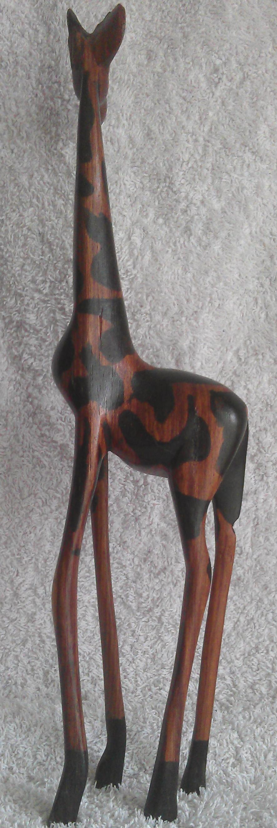 "Hand Carved 12.5"" Giraffe: Only £9.99 Hand"
